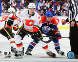 Sean Monahan & Ryan Nugent-Hopkins 2014-15 Action Photo