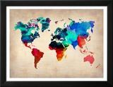 World Watercolor Map 1 Kunstdrucke von  NaxArt