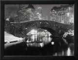 Teich in New York im Winter Gerahmter Fotografie-Druck von  Bettmann