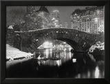 New York Pond in inverno Stampa fotografica incorniciata di  Bettmann