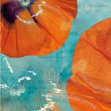 Poppies in the Sky II Print by Sabine Berg
