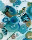 Sapphire Blooms II Prints by Cat Tesla