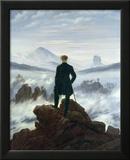 Vandreren over tåkehavet, 1818 Innrammet Giclee-trykk av Caspar David Friedrich