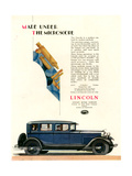1920s UK Lincoln Magazine Advert Giclee Print