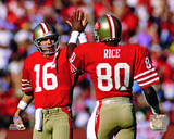 Joe Montana & Jerry Rice 1986 Actiion Photo