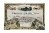 Antique Stock Certificate III Poster by  Vision Studio