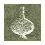 Map Bottles IV Poster by James Burghardt