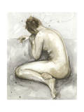 Figure in Watercolor II Print by Megan Meagher