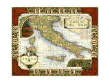 Wine Map of Italy on CGP Prints