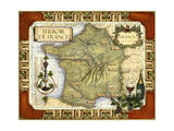 Wine Map of France on CGP Poster