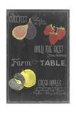 Blackboard Fruit III Poster by  Vision Studio