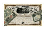 Antique Stock Certificate IV Prints by  Vision Studio