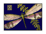 Mini Shimmering Dragonfly II Prints by  Vision Studio