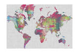 Impasto Map of the World Art by Jennifer Goldberger