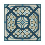 Embellished Indigo Lattice I Prints by Erica J. Vess