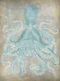 Spa Octopus I Kunst von Jennifer Goldberger