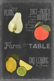 Blackboard Fruit IV Print by  Vision Studio