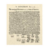 Declaration of Independence Doc. Print