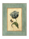 Crackled Spa Blue Tulip IV Poster by  Vision Studio