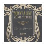 Vintage Wine Labels V Poster by Erica J. Vess