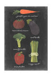 Blackboard Veggies I Print by  Vision Studio