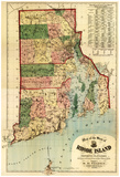 Rhode Island - Panoramic Map Poster