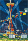 Space Needle Worlds Fair Poster - Seattle, Wa Posters