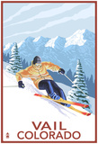 Vail, Co - Vail Downhill Skier Prints