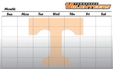Tennessee Volunteers Dry Erase Calendar Novelty