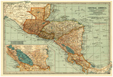 Central America - Panoramic Map Photo