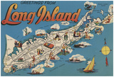 Long Island, New York - Greetings From Prints