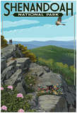Shenandoah National Park, Virginia - Hikers And Hawk Posters