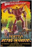Seattle Vs. Astro Invaders Print