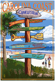 Charleston, South Carolina - Destination Signs Posters