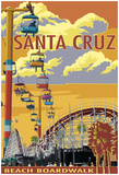Santa Cruz, California - Beach Boardwalk Posters