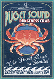 Seattle, Washington - Dungeness Crab Prints