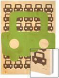 Green Auto Wood Print