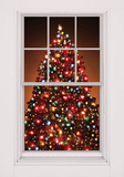 Christmas Tree WOWindow Poster Window Decal