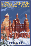 Bryce National Park, Utah, Winter Scene Print