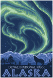 Northern Lights, Denali National Park, Alaska Posters