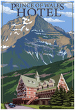 Waterton National Park, Canada - Prince Of Wales Hotel Photo
