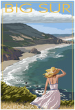 Big Sur, California Coast Scene Posters
