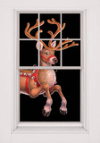 Dashing Reindeer WOwindow Poster Window Decal
