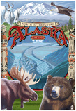 Alaska Scenes Montage Prints