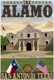 The Alamo Morning Scene - San Antonio, Texas Posters
