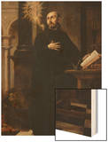Saint Ignatius of Loyola Received the Name of Jesus Wood Print by Juan de Valdes Leal