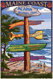 Acadia National Park, Maine - Sign Destinations Posters
