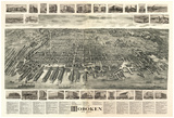 Hoboken, New Jersey - Panoramic Map Poster