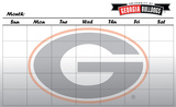 Georgia Bulldogs Dry Erase Calendar Novelty