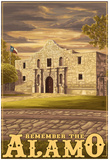 The Alamo Sunset - San Antonio, Texas Prints